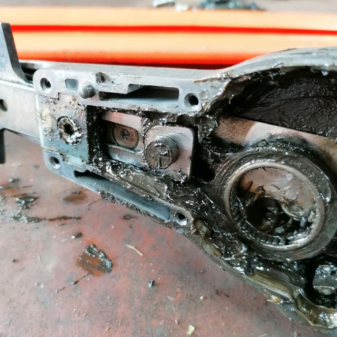 stihl hedge trimmer gearbox repairs